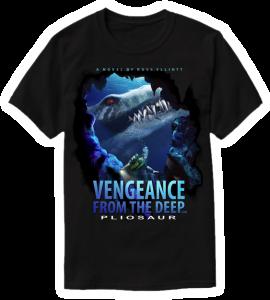 pliosaur black t-shirt veng-2