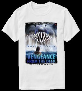 pliosaur vengeance white t-shirt 1