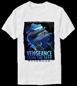 pliosaur vengeance white t-shirt 2